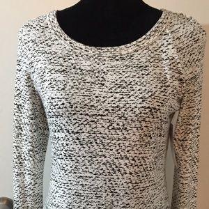 NWT Karen Kane cream/black blouse lace trim size S